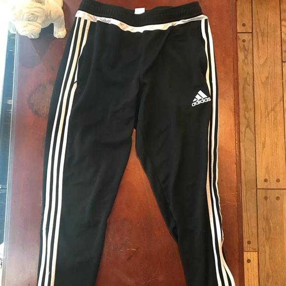 Adidas pantaloni nero pieno riga traccia poshmark